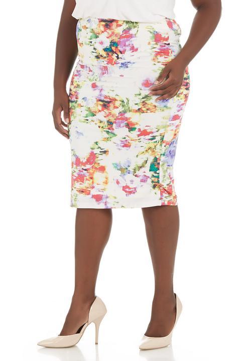 bef06766d9a6ec Floral pencil skirt Multi-colour STYLE REPUBLIC Bottoms & Skirts ...