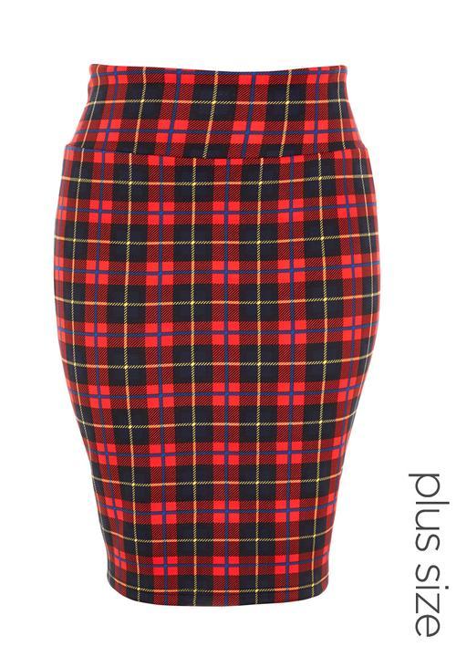 c1f50b3e76354a Tartan pencil skirt Multi-colour City Chic Bottoms & Skirts ...