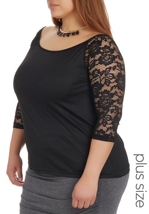0779c3c367906 Bardot Lace Top Black STYLE REPUBLIC Tops