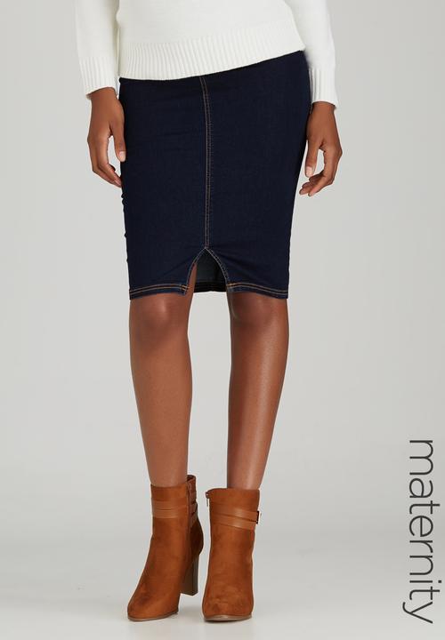 de6d251c752 Denim Skirt Dark Blue Cherry Melon Bottoms