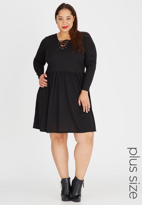 7303f545a1 Dina Lace-up Skater Dress Black Brave Soul Dresses