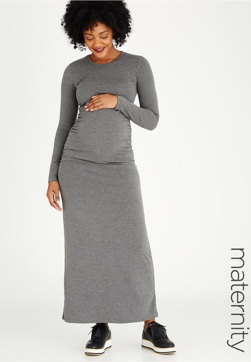 67b5ab547f Long Maxi Dress Dark Grey edit Maternity Dresses   Jumpsuits ...
