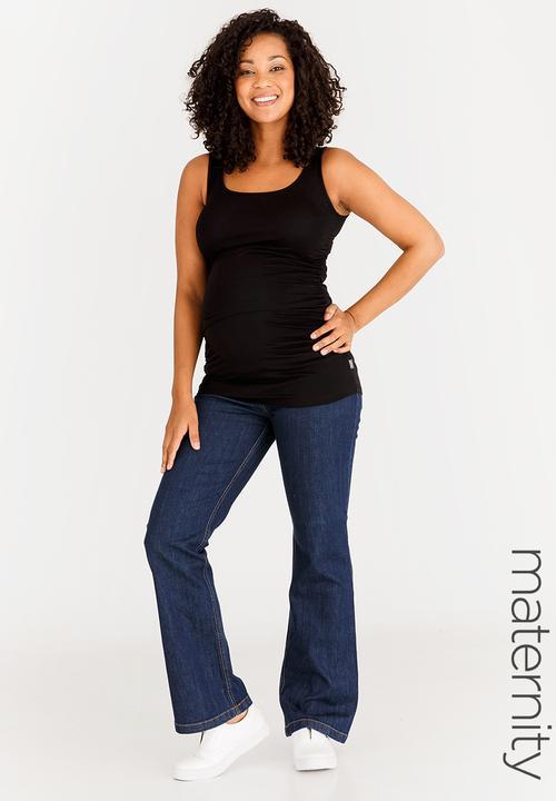 bc8bd191eb3 Basic bootcut jeans - dark blue Cherry Melon Bottoms