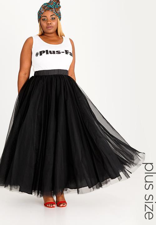 cf1740176fa Tulle Skirt Black Plus-Fab Bottoms   Skirts