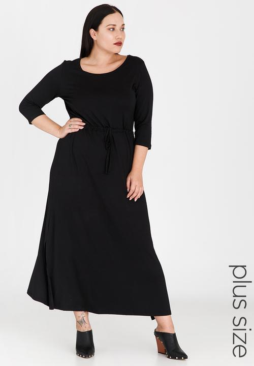 e729c3ff2f7 Maxi T-Shirt Dress Black edit Plus Dresses