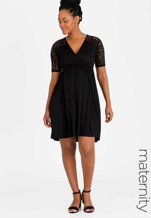 5d4ffbe126 Lace Overlay Dress Black edit Maternity Dresses   Jumpsuits ...
