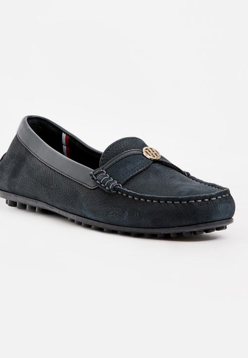 3e7d0f5bedaee Leather Loafers Navy Tommy Hilfiger Pumps   Flats