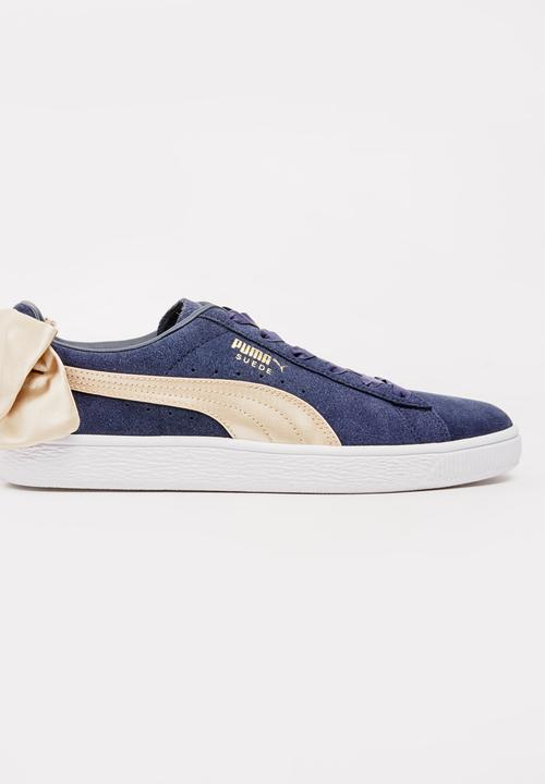 79b8625d5eab58 Puma Suede Bow Varsity Sneakers Navy PUMA Sneakers