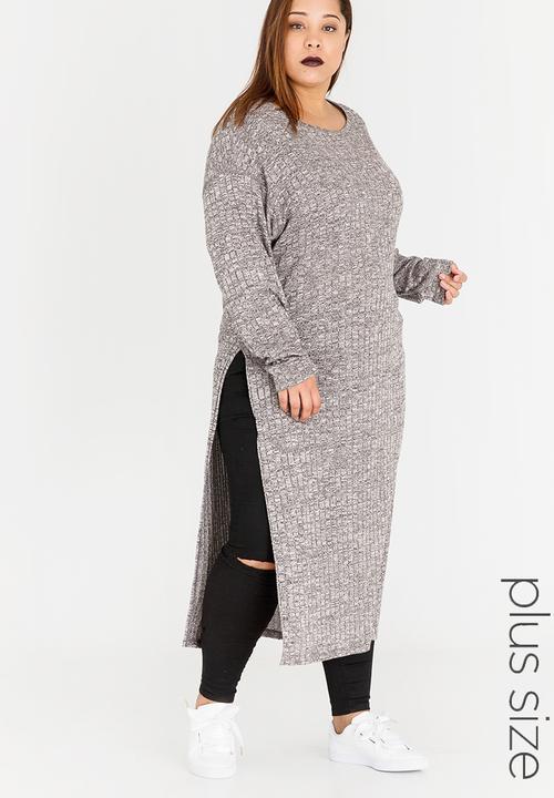 b00e9311 Allessandra Long Tunic with Slits Grey Slick Tops | Superbalist.com