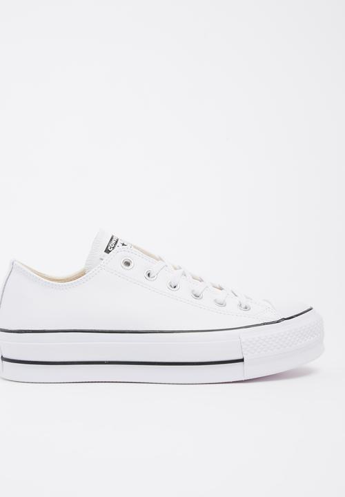 cb08e7d70cf Chuck Taylor Leather All Star Lift Clean Sneakers White Converse ...