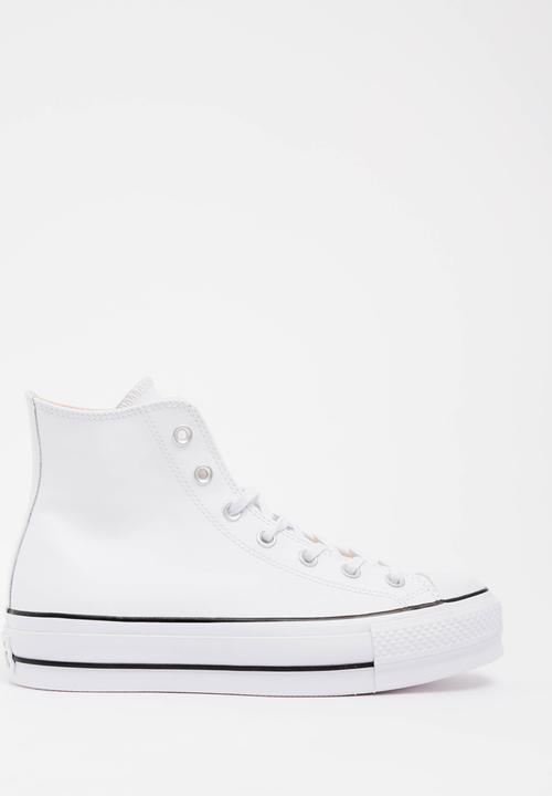 07e9a85cddcb Chuck Taylor All Star Lift Clean - Hi - White - Leather Converse ...