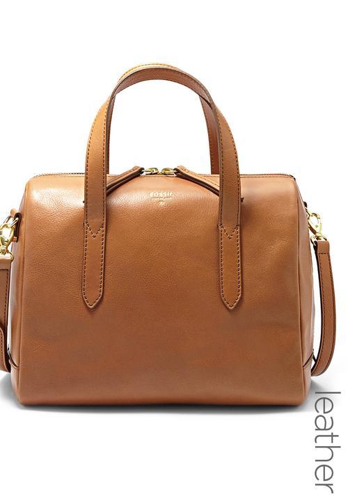 d75bddccbd8 Sydney Satchel Bag Camel/Tan Fossil Accessories Bags & Purses ...
