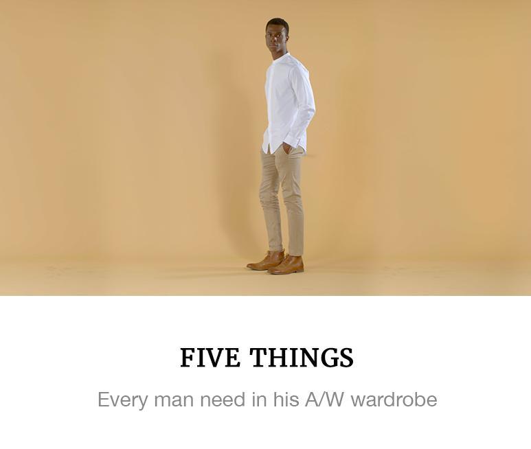 five 5 men's essentials superbalist fashion video blog