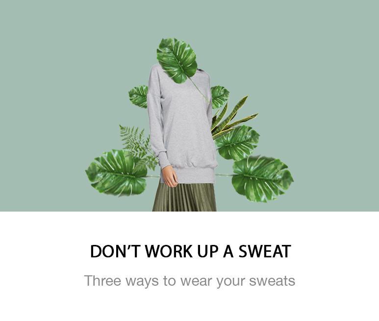 3 ways to wear sweats