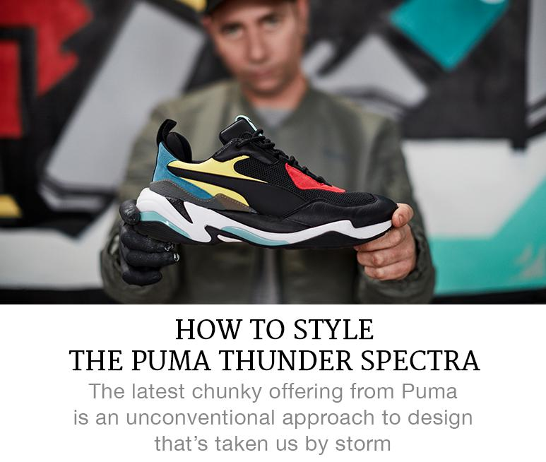 how to style puma thunder spectra