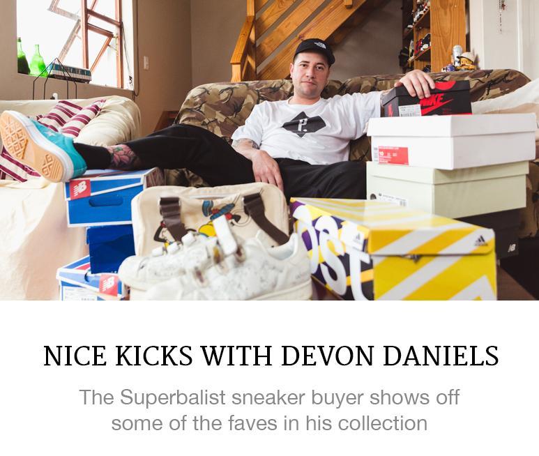 Devon Daniels' sneaker collection