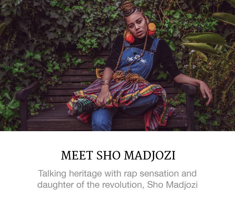Sho Madjozi's hairstyle