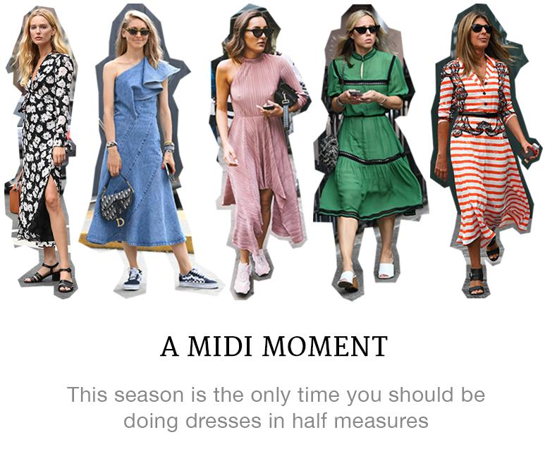 A Moment for the Midi Dress