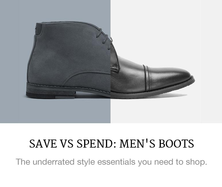 Save VS Spend: Men's Boots