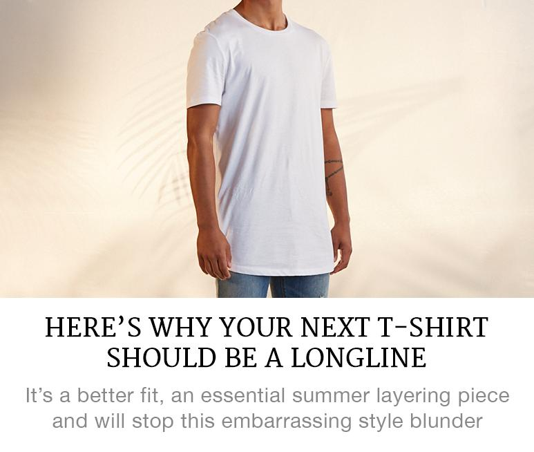 Longline T-shirt tips