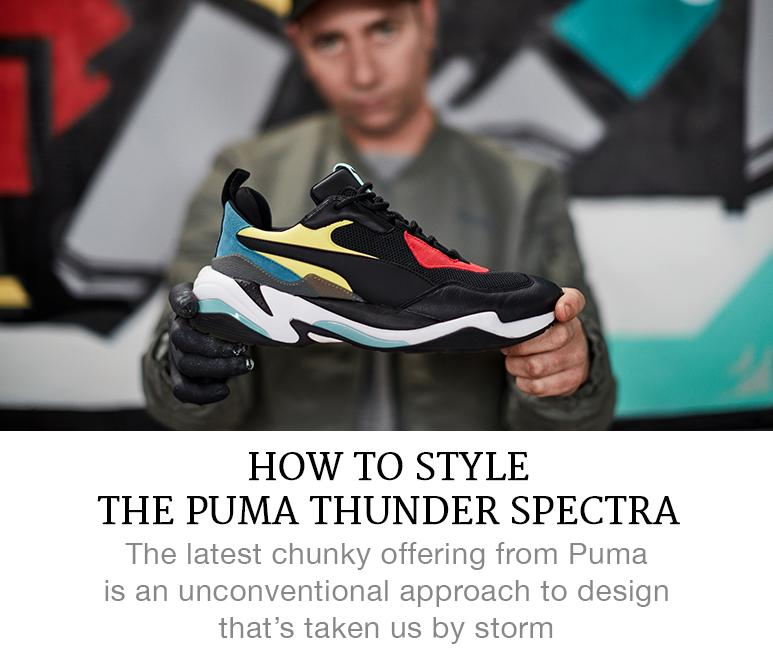 how to style the PUMA Thunder Spectra