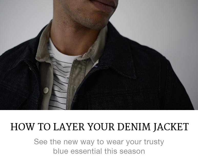 how to layer a denim jacket