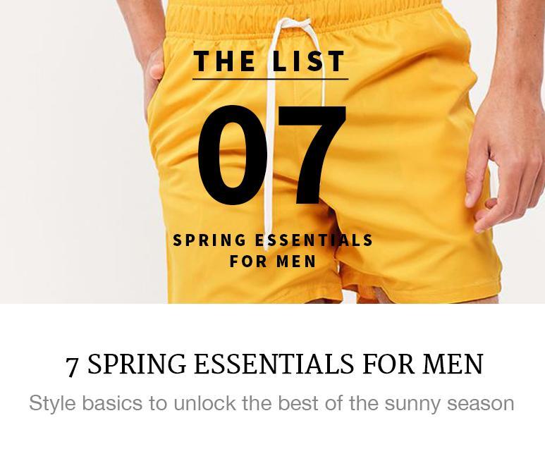 7 spring essentials for men