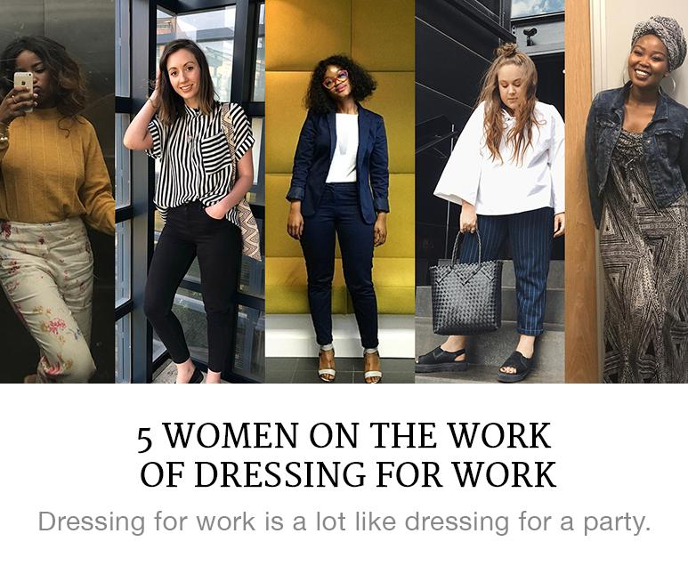 women on dressing for work