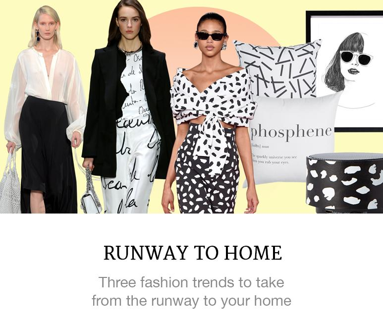 these runway trends inspire home decor
