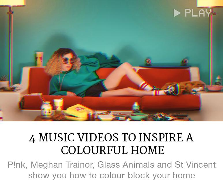 music videos inspire colourful home