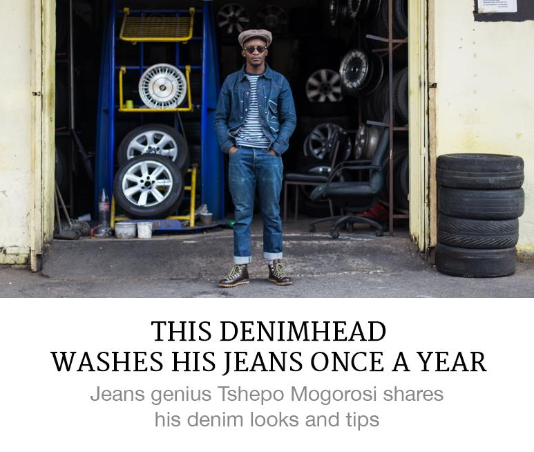 wash your jeans once a year