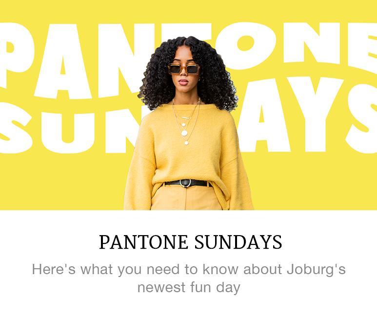 Pantone Sundays yellow