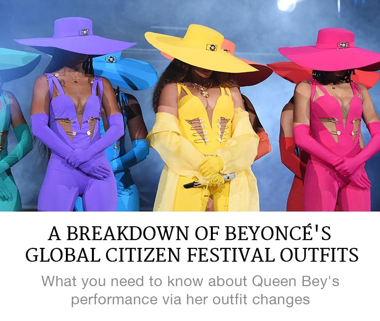 Beyonce's Global Citizen Outfits