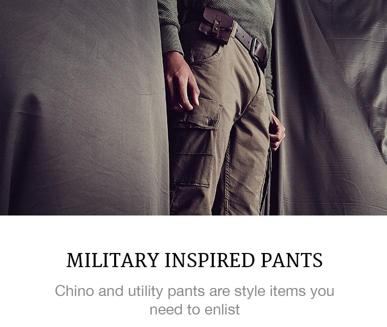 MILITARY TREND MENS FASHION PANTS CHINOS SUPERBALIST