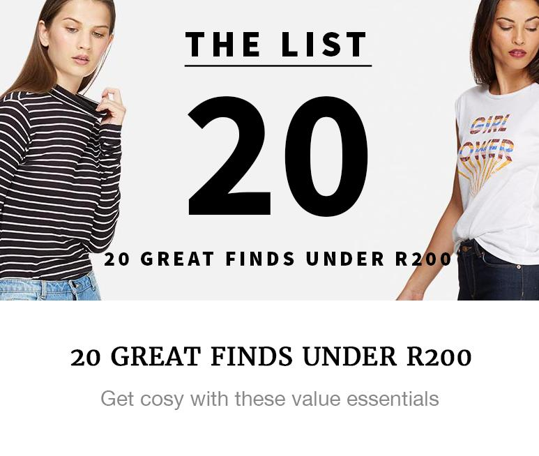 value fashion under R200 superbalist