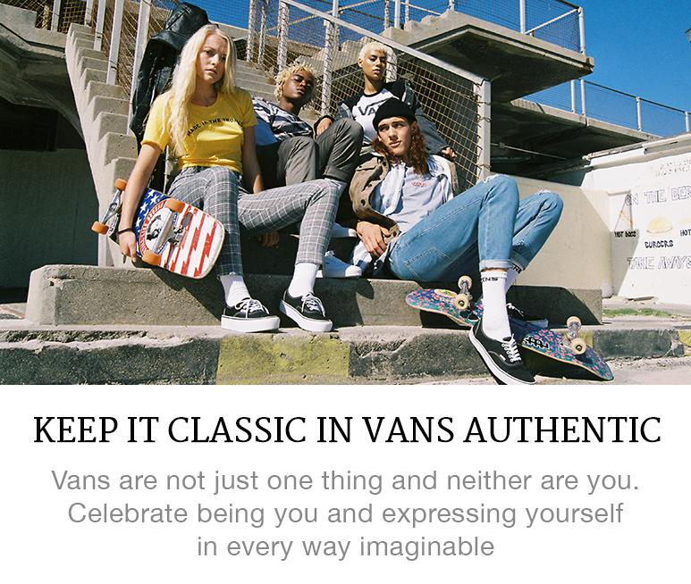 Vans Authentic look book