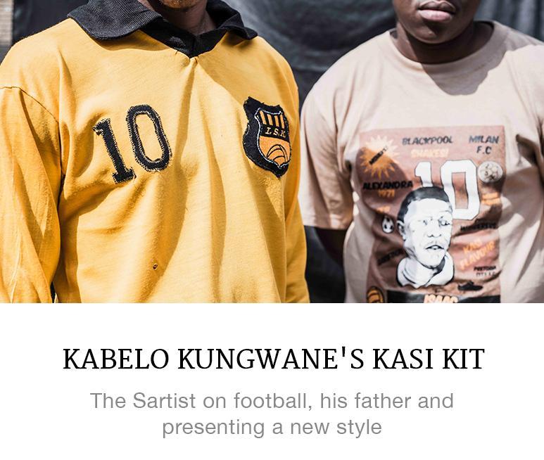 Kabelo Kungwane's vintage football kit