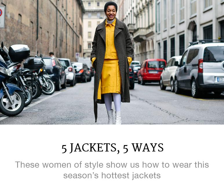 5 Jackets, 5 Ways to Cover Up This Season