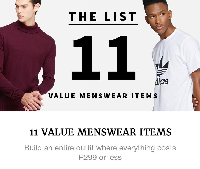 Menswear value items