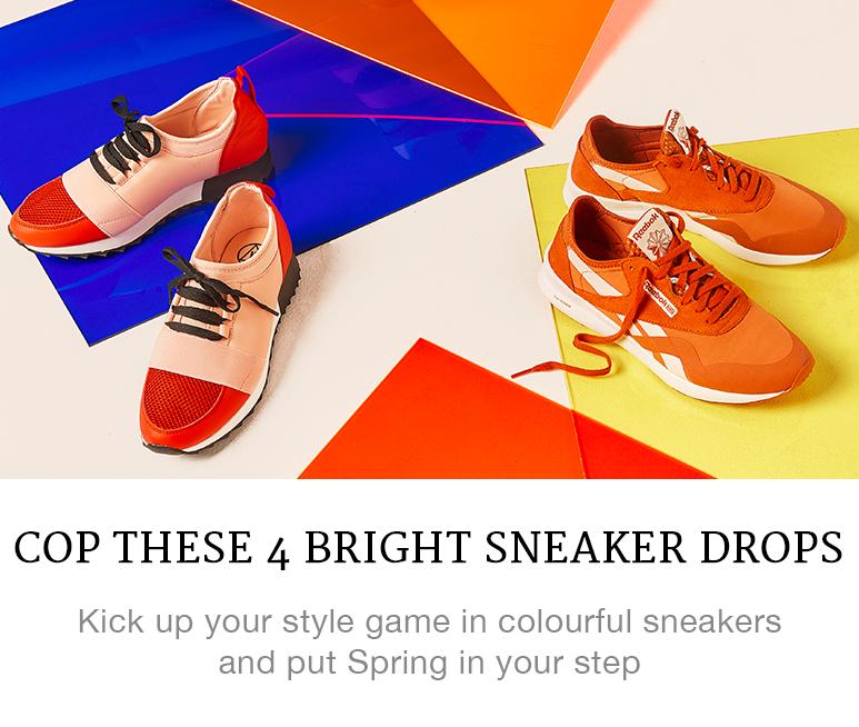 bright sneaker drops