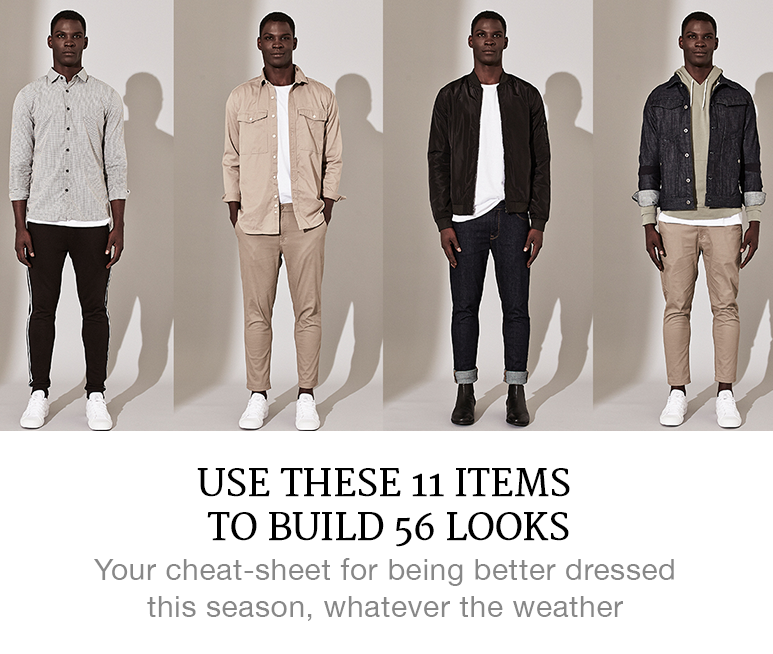 11 items to build 56 looks