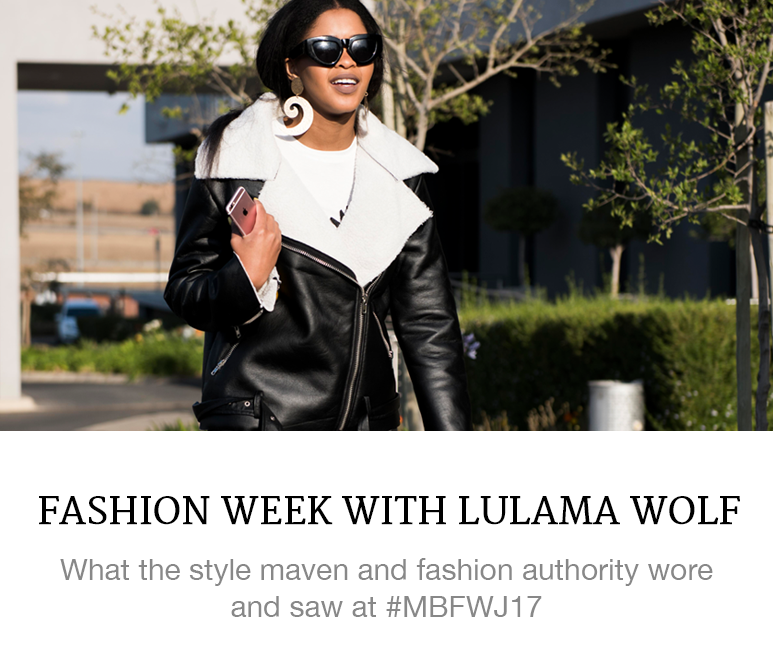 Lulama Wolf at Fashion Week