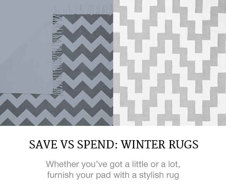 save or splurge rugs winter decor superbalist blog