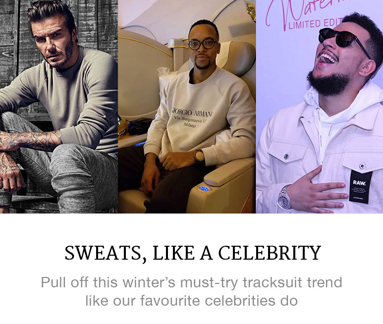 Celebrities in sweats