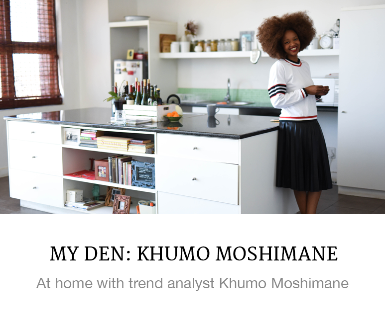At home with Khumo Moshimane