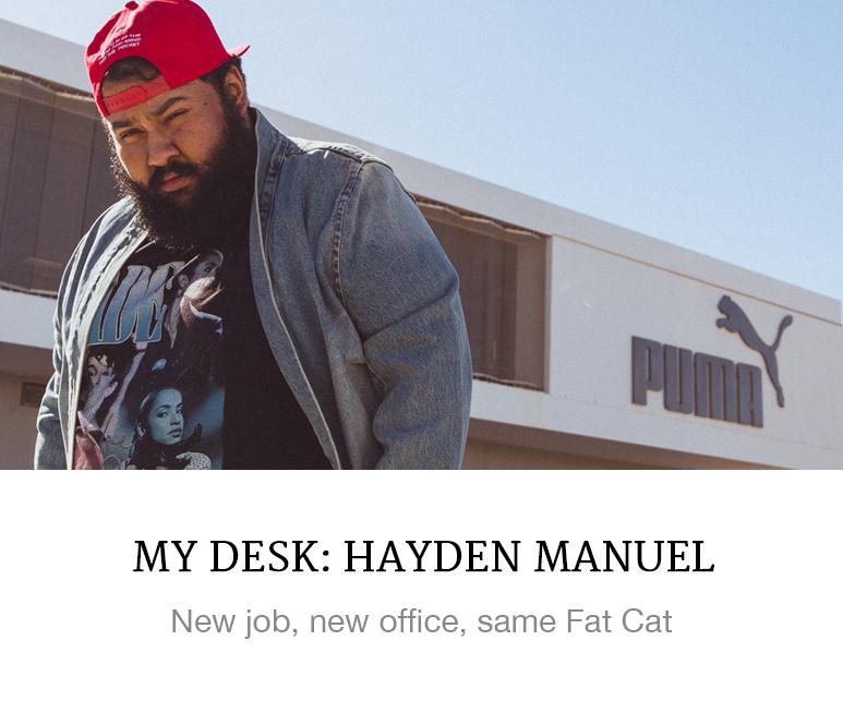 Hayden Manuel's office at Puma HQ