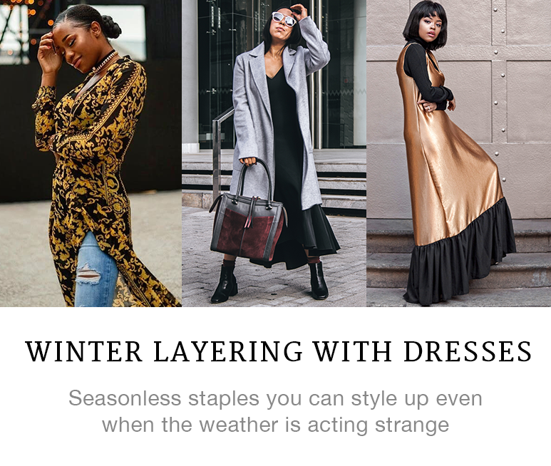 Layer Your Dresses in Winte Like Our IG Faves