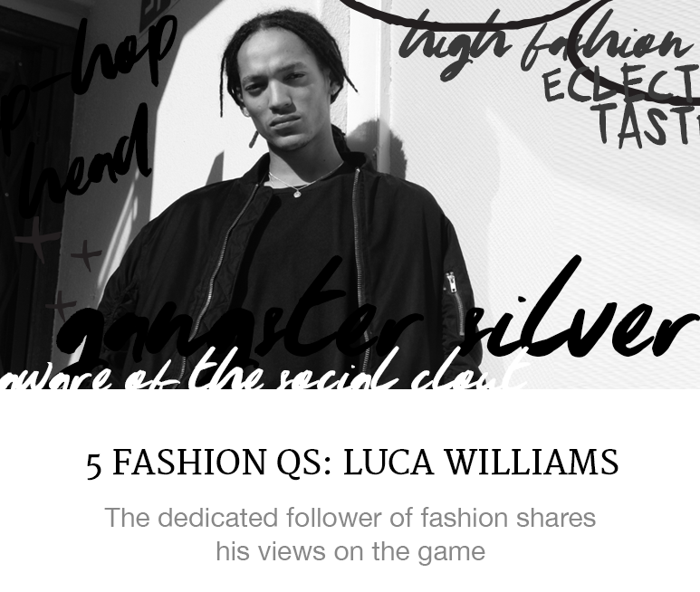 luca williams fashion q+a balenciaga superbalist