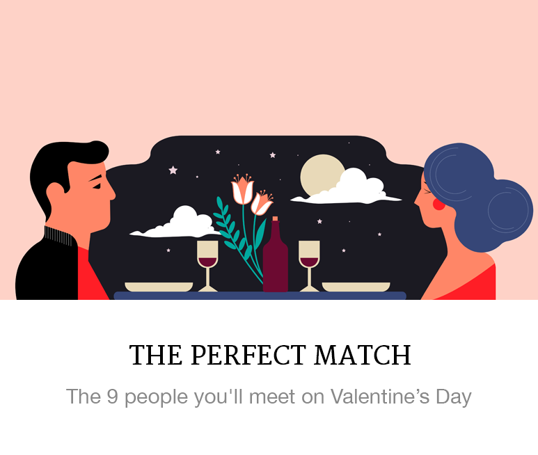 People you'll meet on Valentine's Day