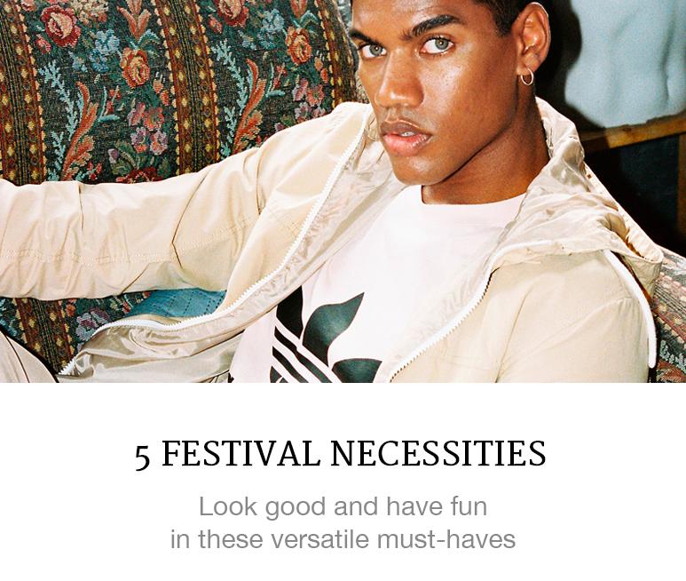 Menswear festival necessities